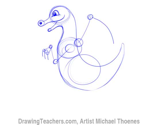 How to Draw Dragon for Kids 4
