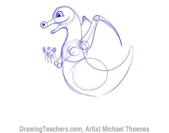 How to Draw Dragon for Kids 5