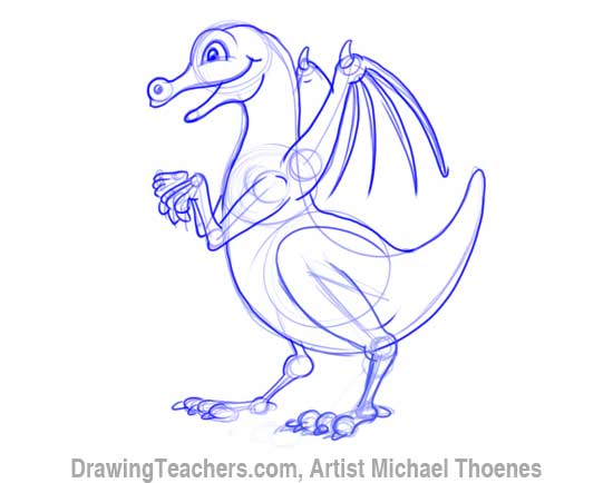 How to Draw Dragon for Kids 7