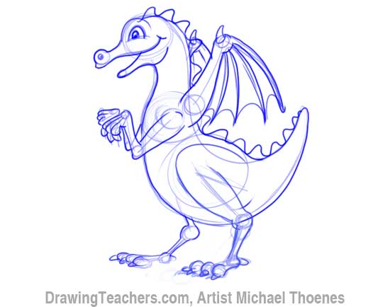 How to Draw Dragon for Kids 8
