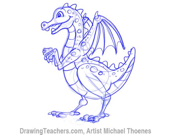 How to Draw Dragon for Kids 9
