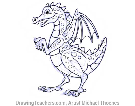 how to draw a dragon sketch