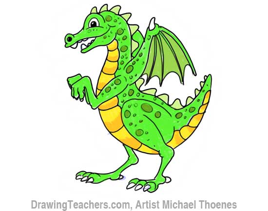 How to Draw Dragon for Kids 11