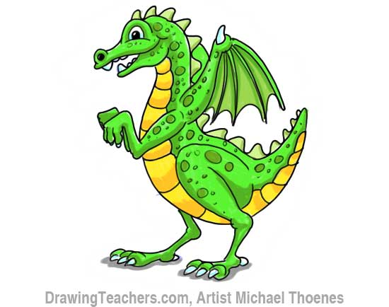 How to Draw Dragon for Kids 12