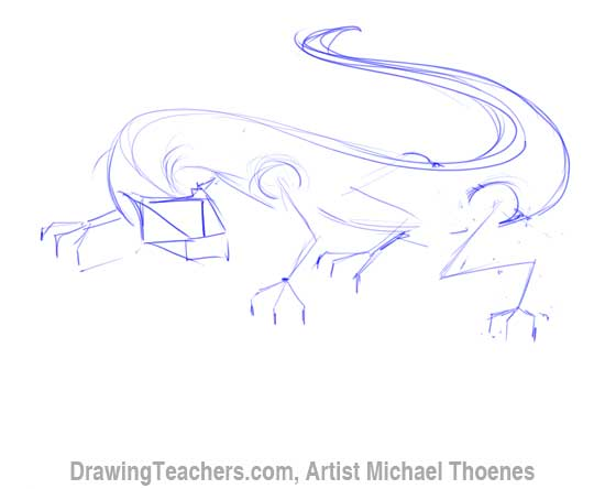How to Draw Dragon Lizard 3