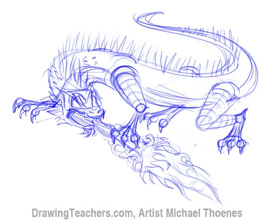 How to Draw Dragon Lizard 6