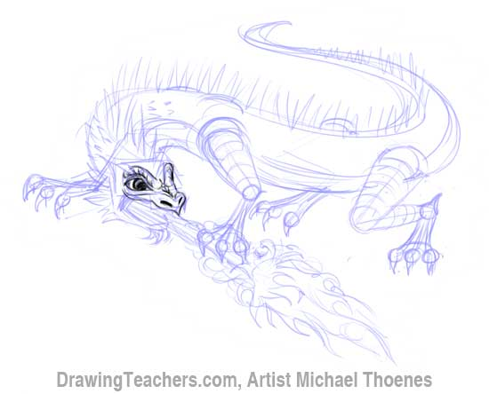 How to Draw Dragon Lizard 7
