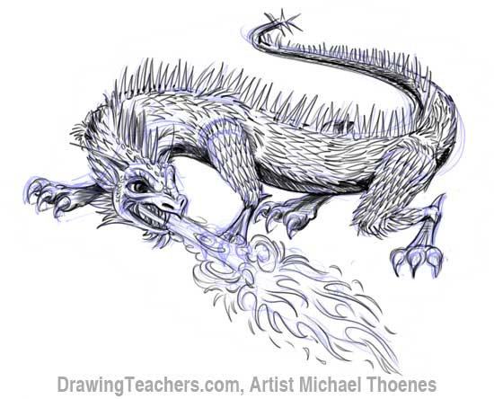 How to Draw Dragon Lizard 11
