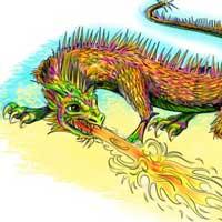 How to Draw Dragon Lizard 16