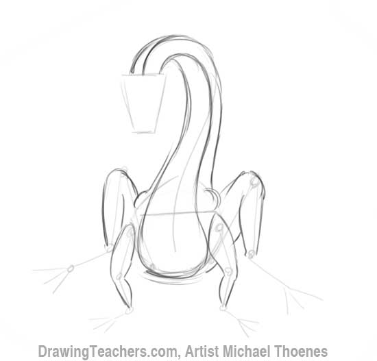 How to Draw Dragon Sitting 5