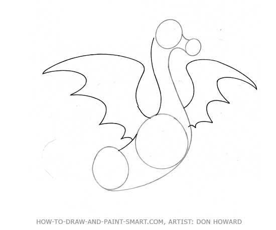 How to Draw a Dragon Step 2