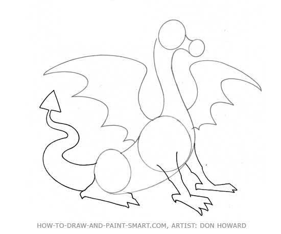 How to Draw a Dragon Step 3