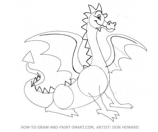 How to Draw a Dragon Step 4