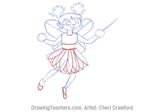 How to Draw a fairy Face Step 8