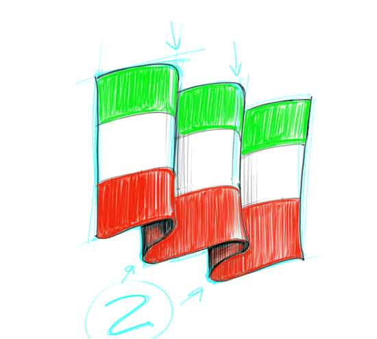 How to Draw a Flag Step 7