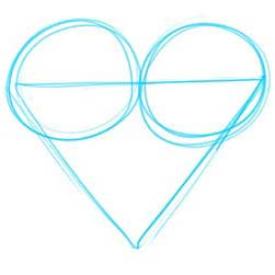 How to Draw a Heart Step 2