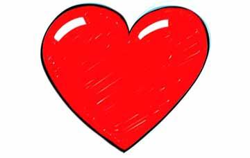 วิธีการวาดขั้นตอนที่ 6 หัวใจ