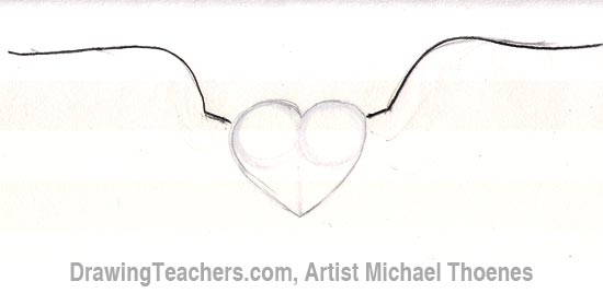 how to draw a heart with wings rh drawingteachers com heart with angel wings drawings heart with angel wings drawings