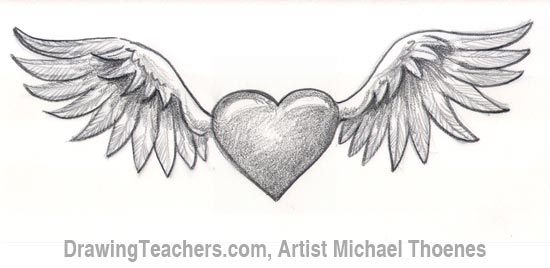 How To Draw Graffiti Hearts How to draw a heart with wings