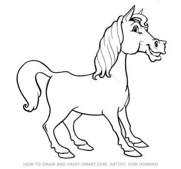 How to Draw a Horse Step 6