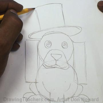 How to Draw a Hound Dog 3