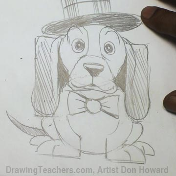 How to Draw a Hound Dog 5