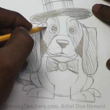 How to Draw a Hound Dog 1