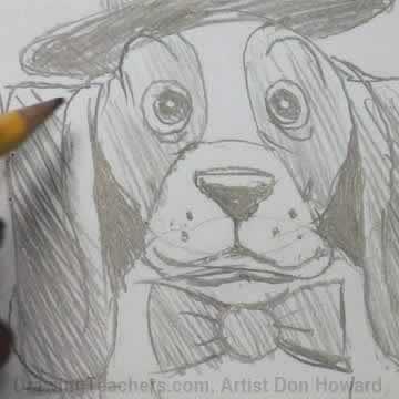 How to Draw a Hound Dog 2