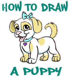 Puppy Cartoon Face