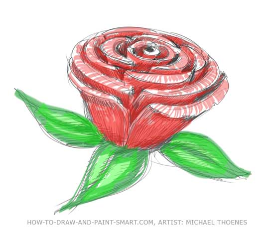 how to draw a simple rose dragoart
