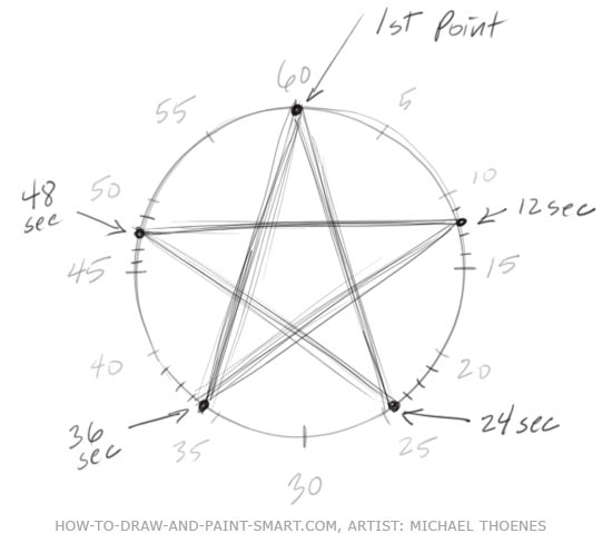 How to Draw a Star Step 5