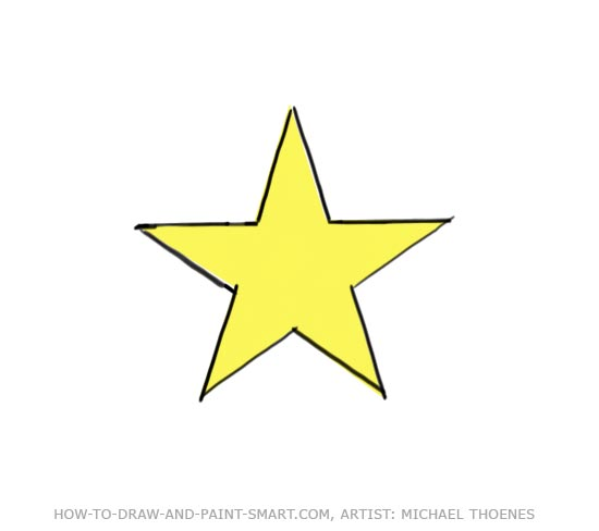 How to Draw a Star Step 7
