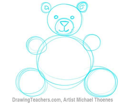 How to Draw a Teddy Bear Step 4