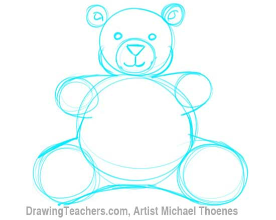 How to Draw a Teddy Bear Step 5