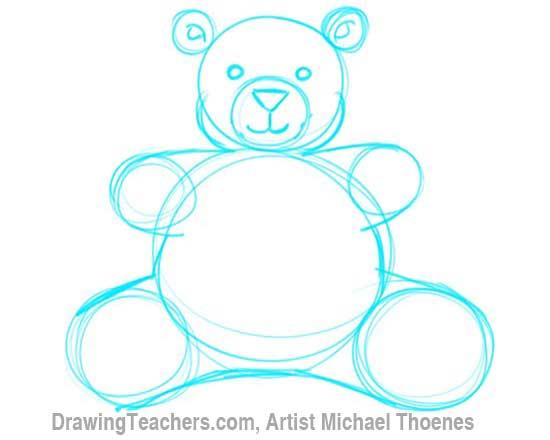 How to Draw a Teddy Bear Step 5