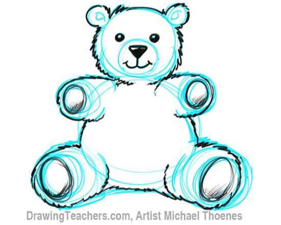 How to Draw a Teddy Bear Step 7