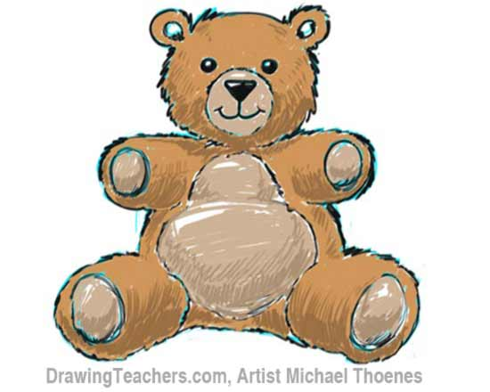 How to Draw a Teddy Bear Step 10