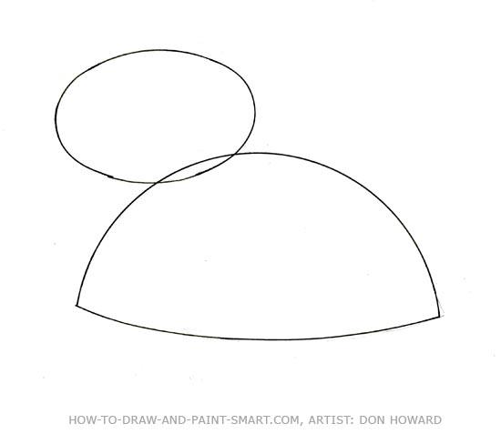 How to Draw a Teddy Bear Step 1