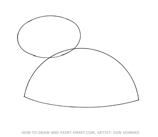 How to Draw a Teddy Bear Step 1
