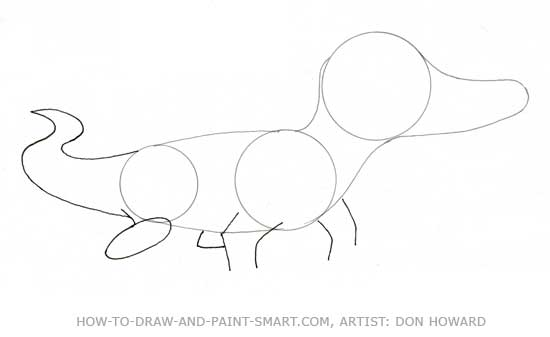 How to Draw Alligator Step 3