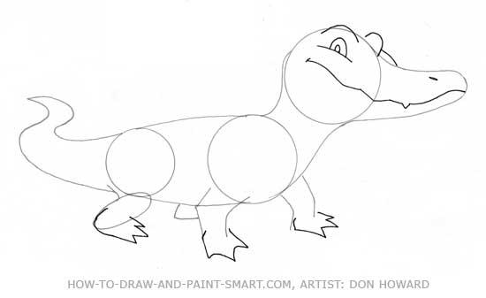 How to Draw Alligator Step 4
