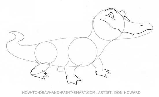 How to Draw Alligator Step 4