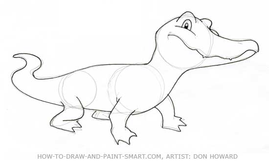 How to Draw Alligator Step 5
