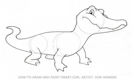 How to Draw Alligator Step 5