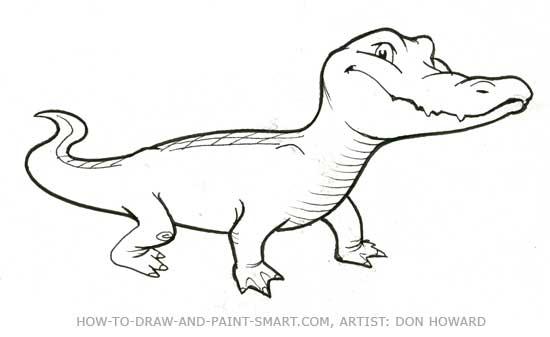 How to Draw Alligator Step 6