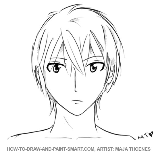 How To Draw Anime Boys Face Step 2