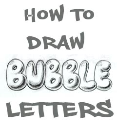 how to draw bubble lettersjpg