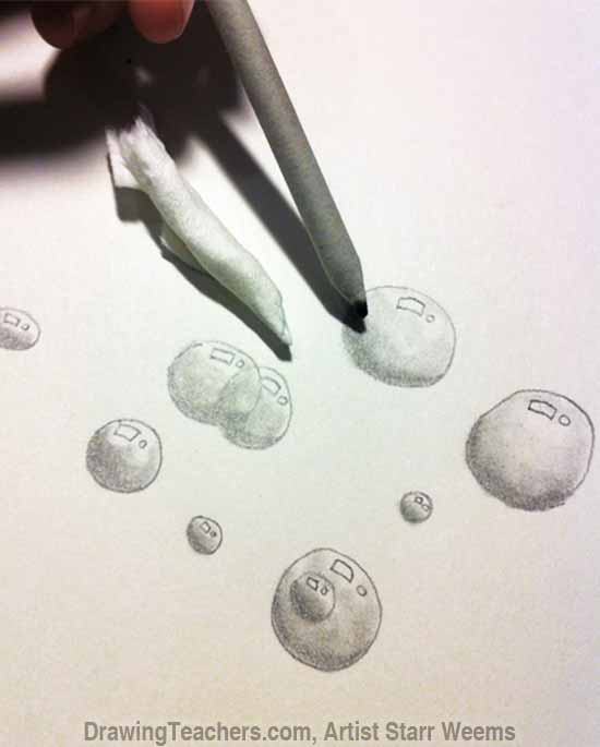 how to draw soap bubbles step by step