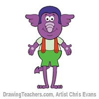 How to Draw Cartoon Characters Elvis from Jumbalees