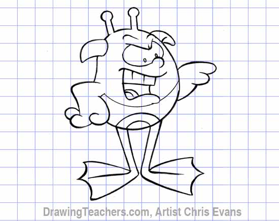"How to draw Cartoon characters ""hoppy"""